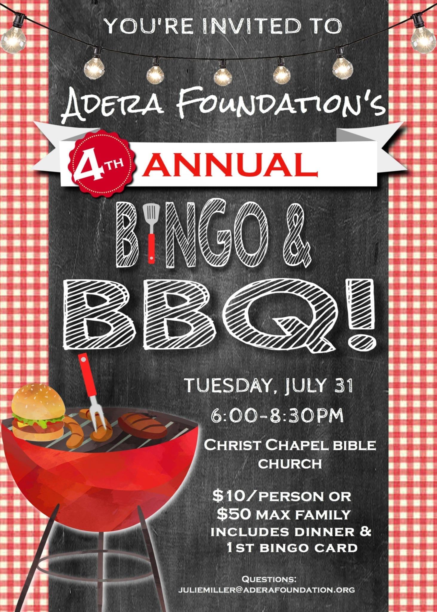 4th Annual Bingo and BBQ!